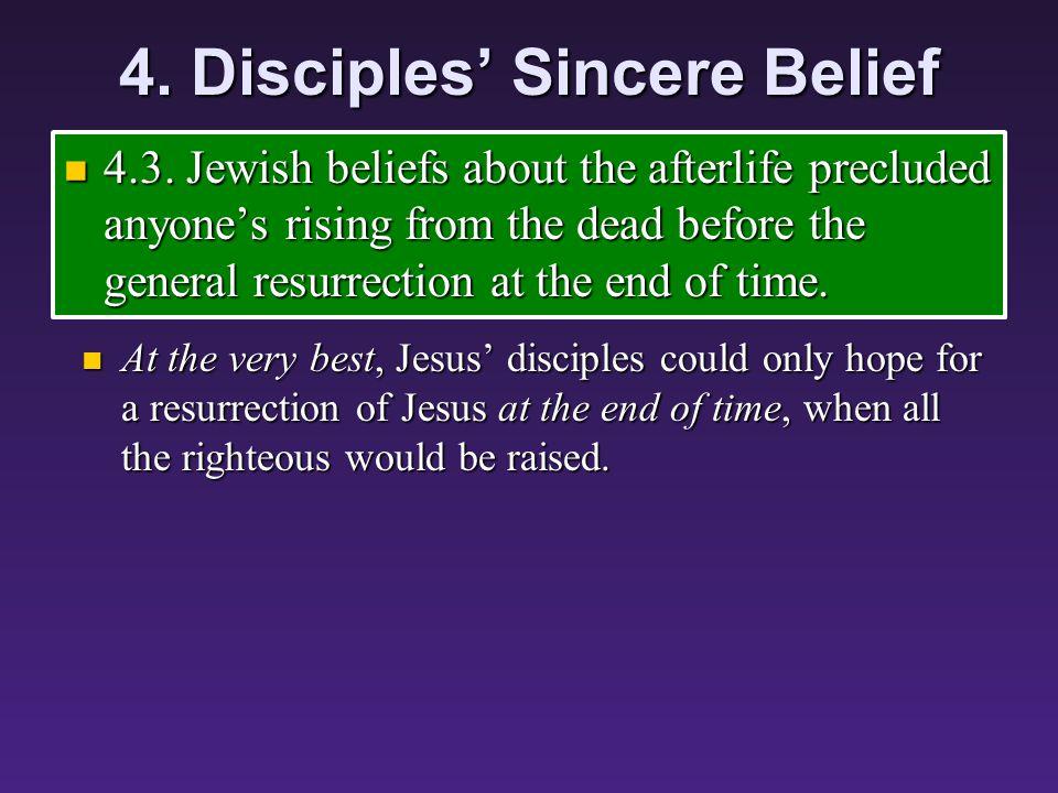 4. Disciples' Sincere Belief 4.3.