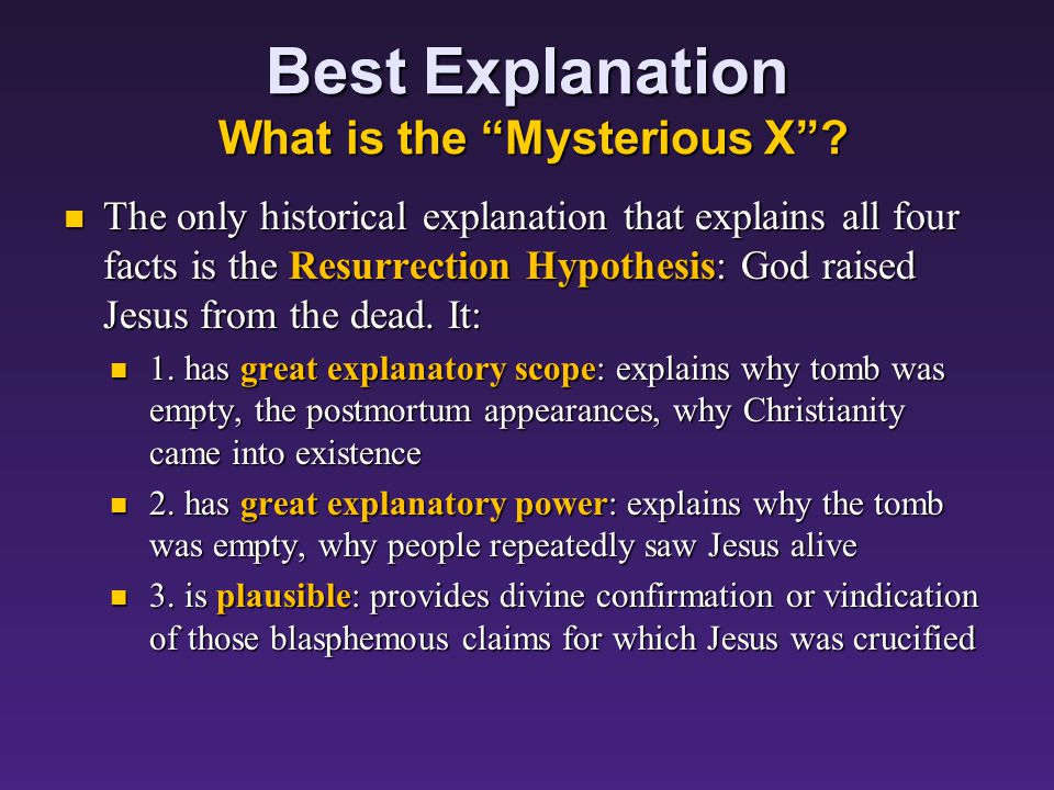 Best Explanation What is the Mysterious X .