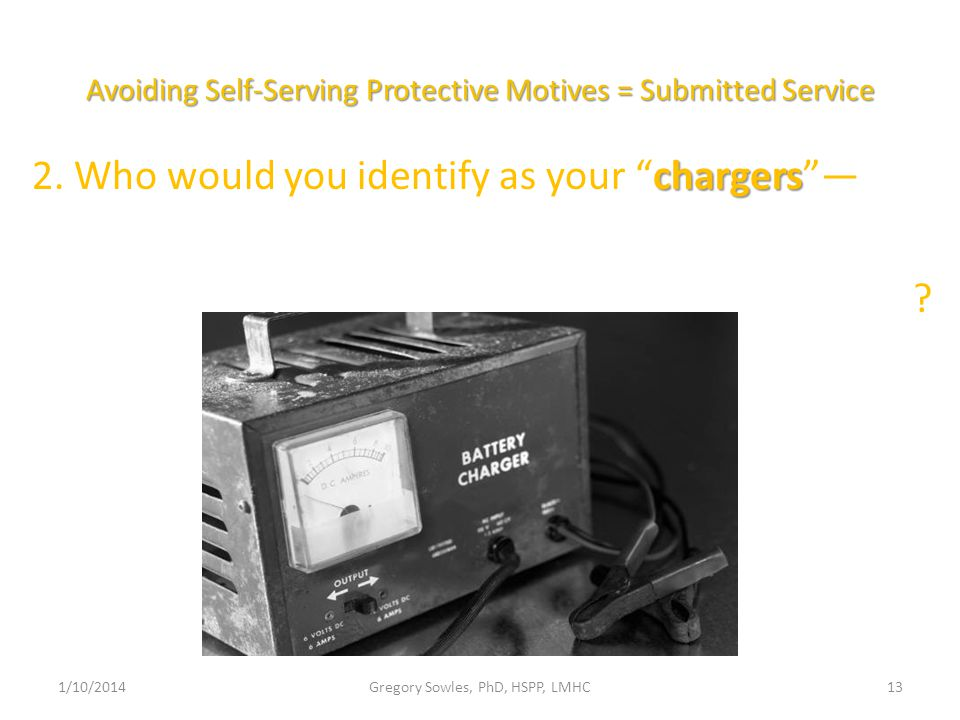 Avoiding Self-Serving Protective Motives = Submitted Service chargers 2.