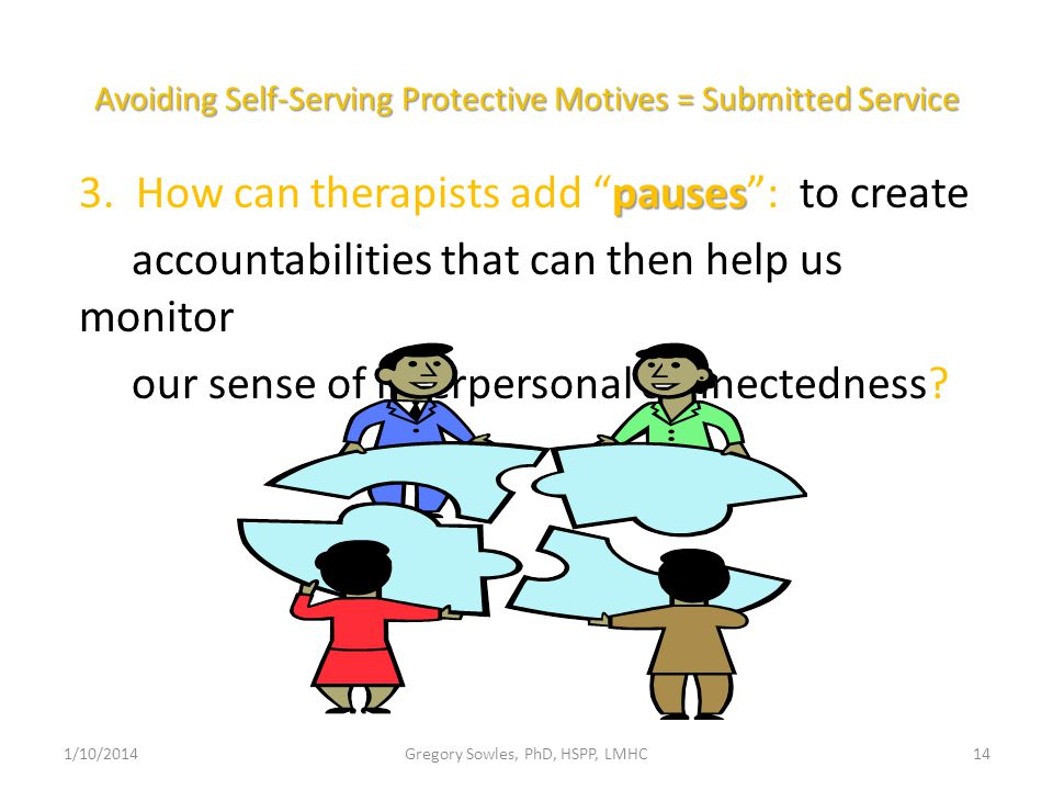 Avoiding Self-Serving Protective Motives = Submitted Service pauses 3.
