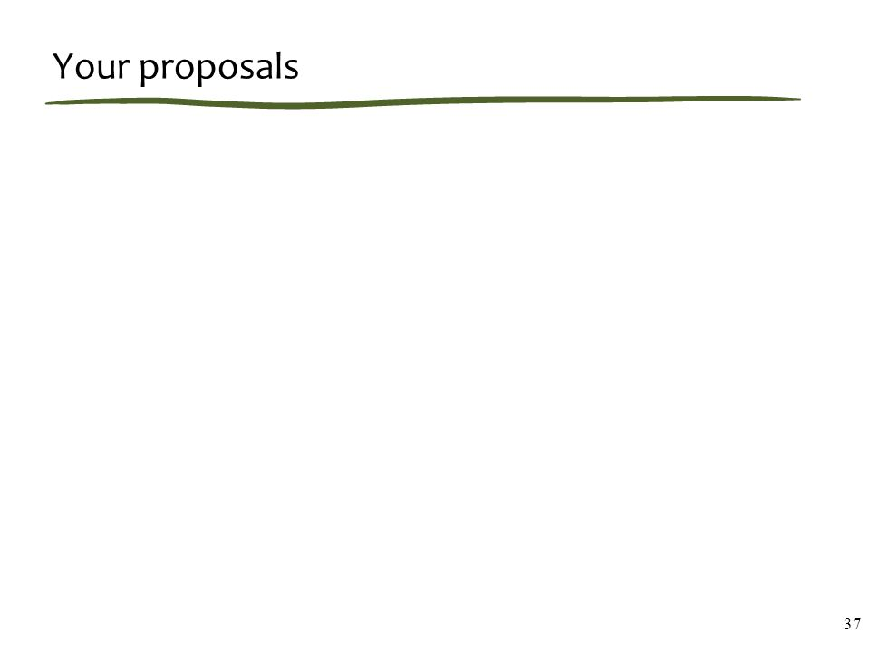 Your proposals 37