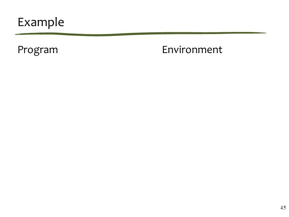 Example ProgramEnvironment 45