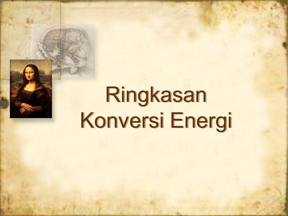 Ringkasan Konversi Energi