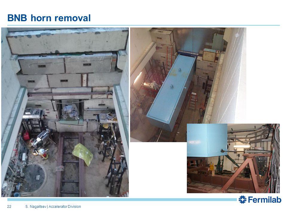 BNB horn removal S. Nagaitsev   Accelerator Division22