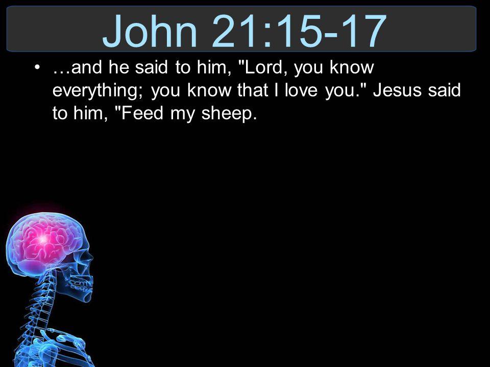 John 21:15-17 …and he said to him,