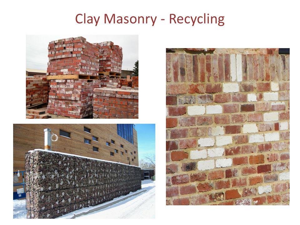 Clay Masonry - Recycling