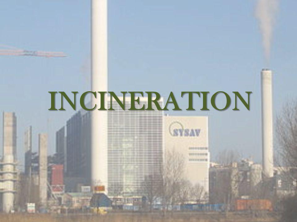 Incineration -Alternative to landfill.