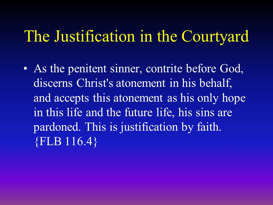Imputed Christ's Righteousness The grace of Christ is freely to justify the sinner without merit or claim on his part.
