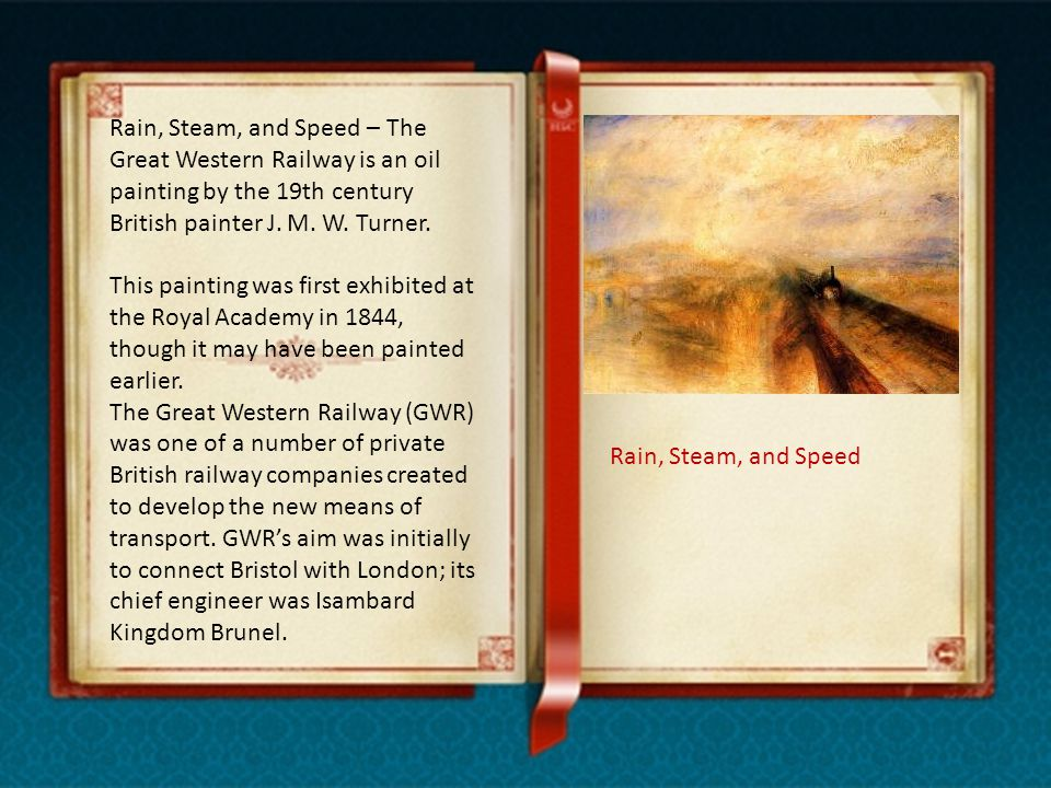 Rain, Steam, and Speed – The Great Western Railway is an oil painting by the 19th century British painter J.
