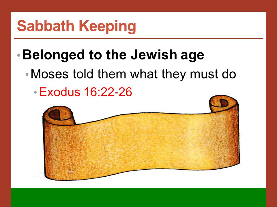 Sabbath Keeping 1500 years of Jewish Law Can read of the Sabbath command and the penalty for violating it.