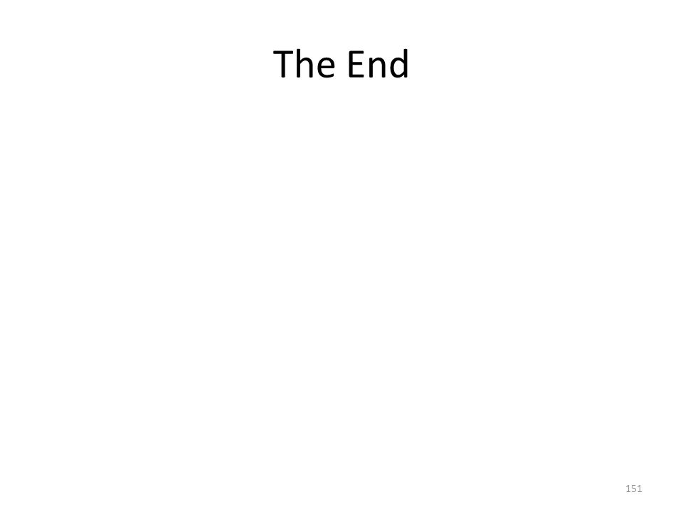 The End 151