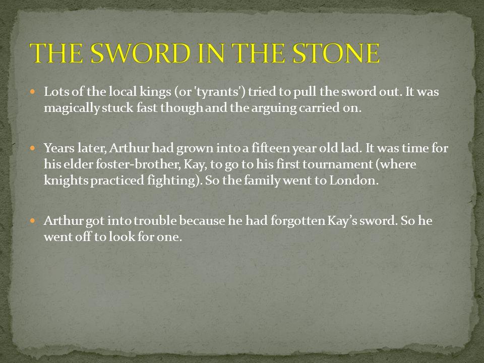 Bedivere threw the sword into the lake.