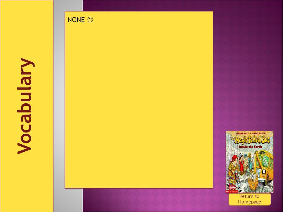 Vocabulary Return to Homepage Return to Homepage NONE