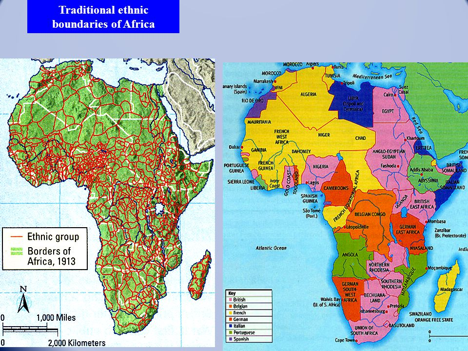 Traditional ethnic boundaries of Africa