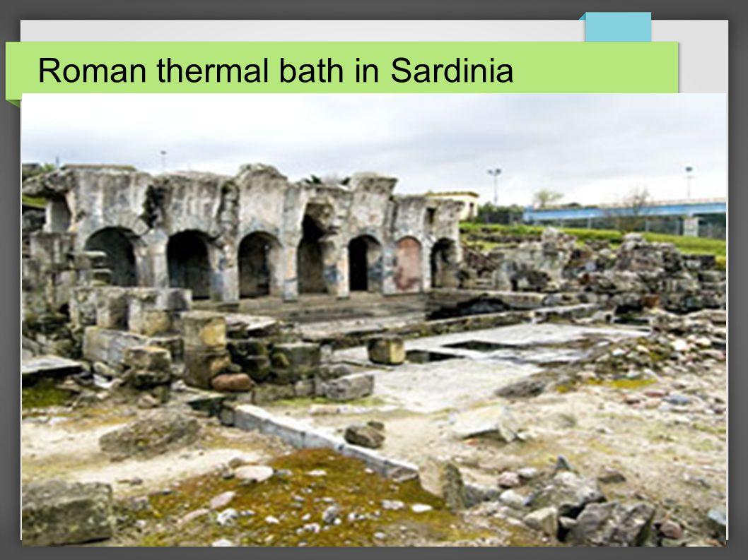 Roman thermal bath in Sardinia