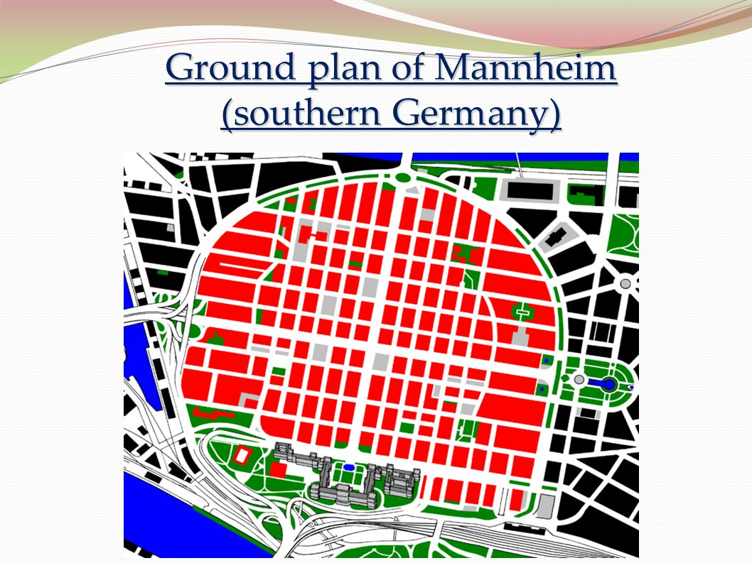 Ground plan of Mannheim (southern Germany)