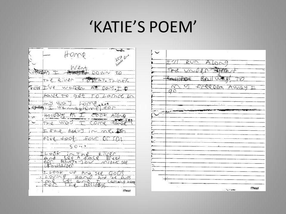 'KATIE'S POEM'