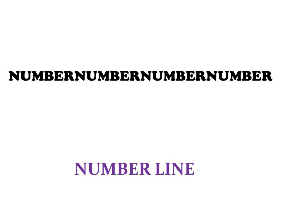 NUMBERNUMBERNUMBERNUMBER NUMBER LINE