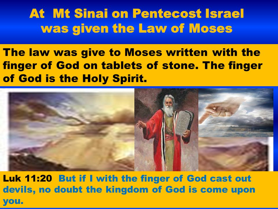The law was give to Moses written with the finger of God on tablets of stone. The finger of God is the Holy Spirit. Luk 11:20 But if I with the finger