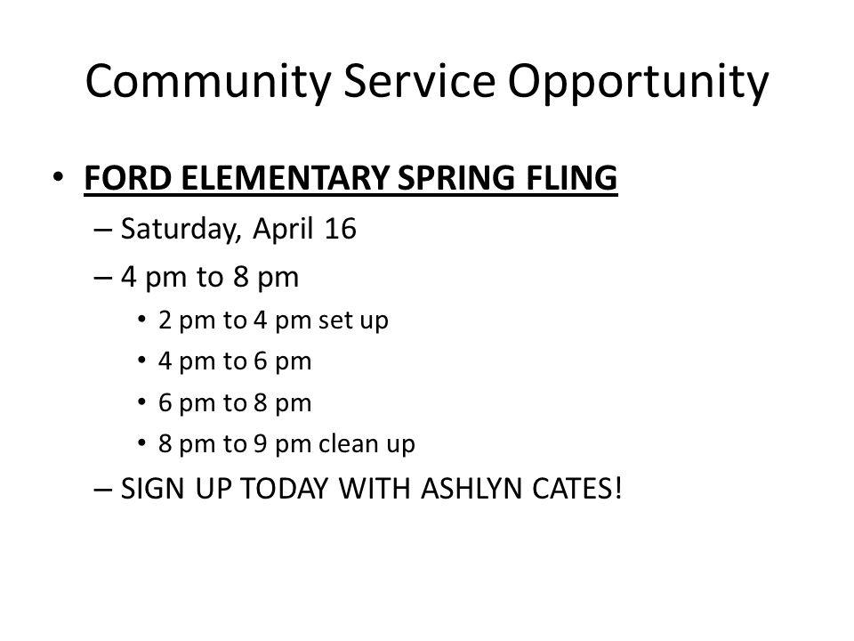Community Service Opportunity COMMUNITY SERVICE DAY.
