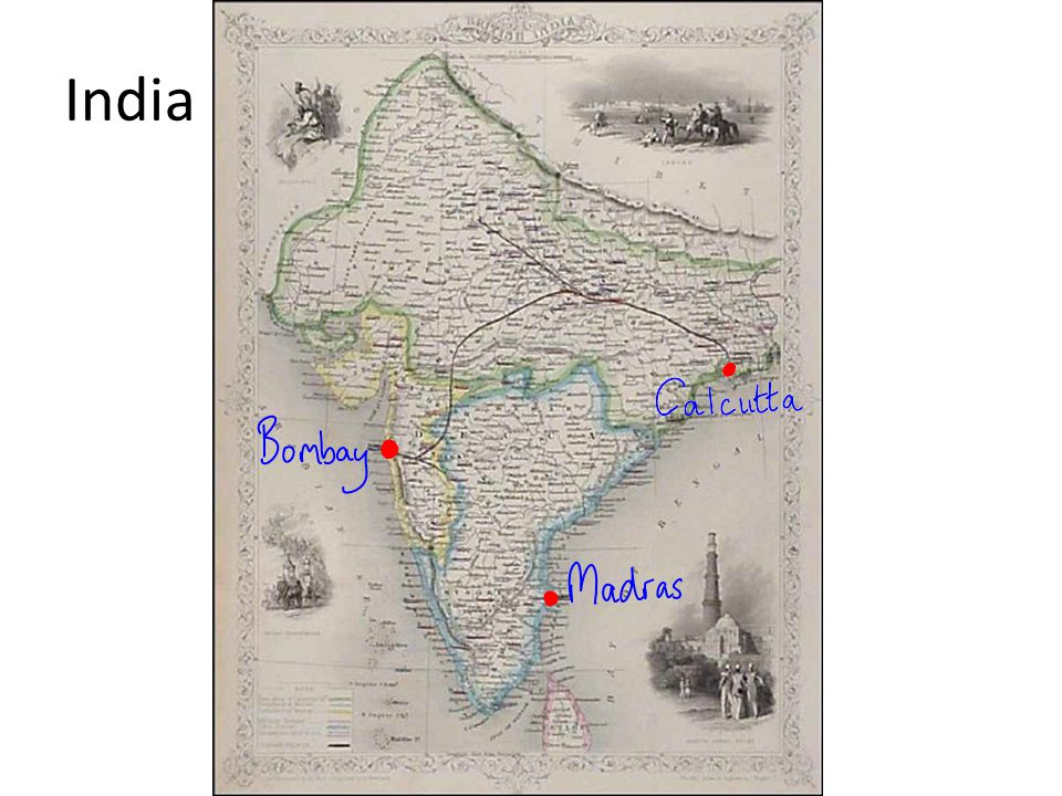 The British were competing with other European nations for influence in India………