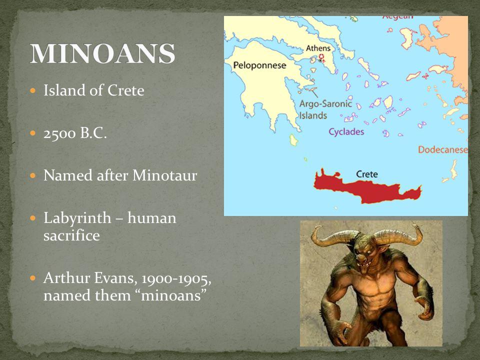 Island of Crete 2500 B.C.