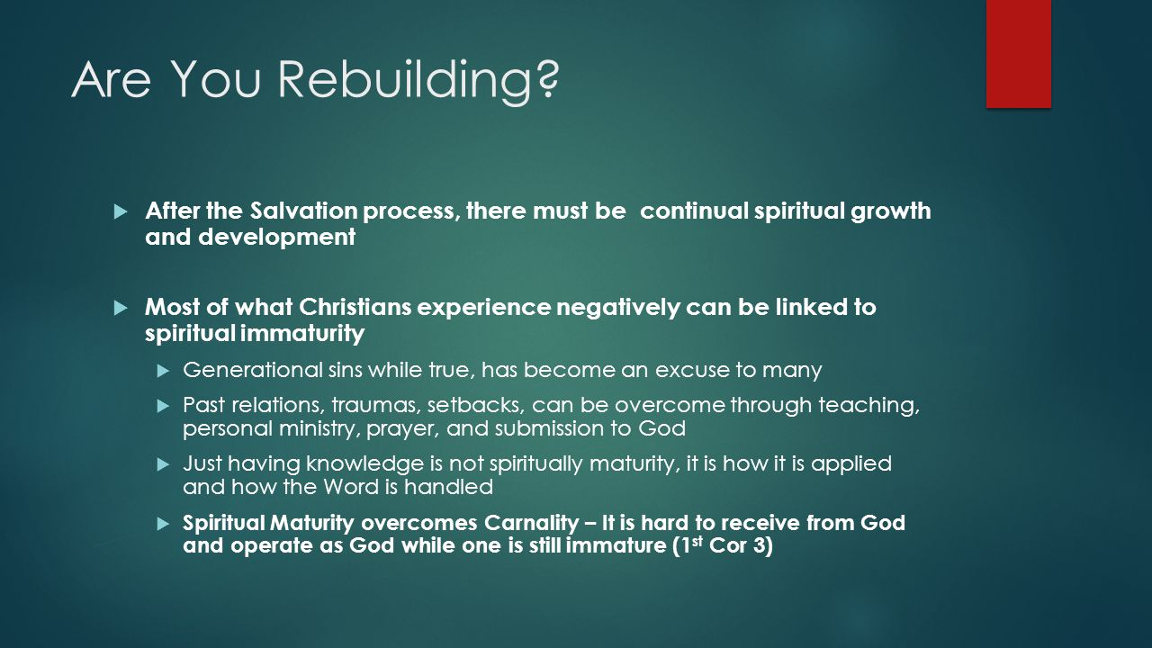 Are You Rebuilding.