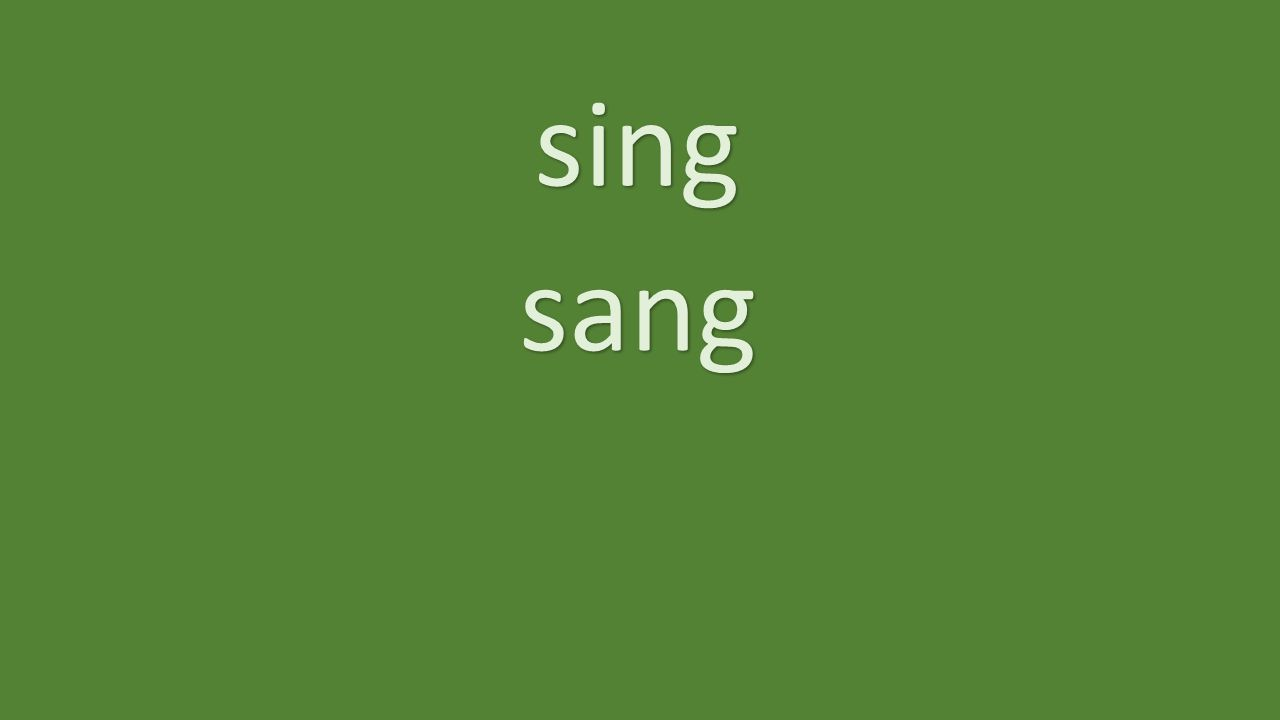 sing sang