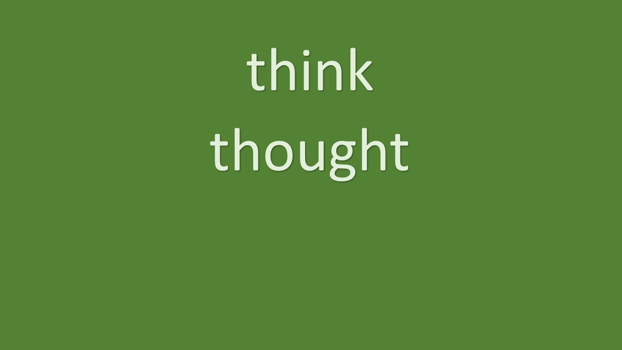 think thought