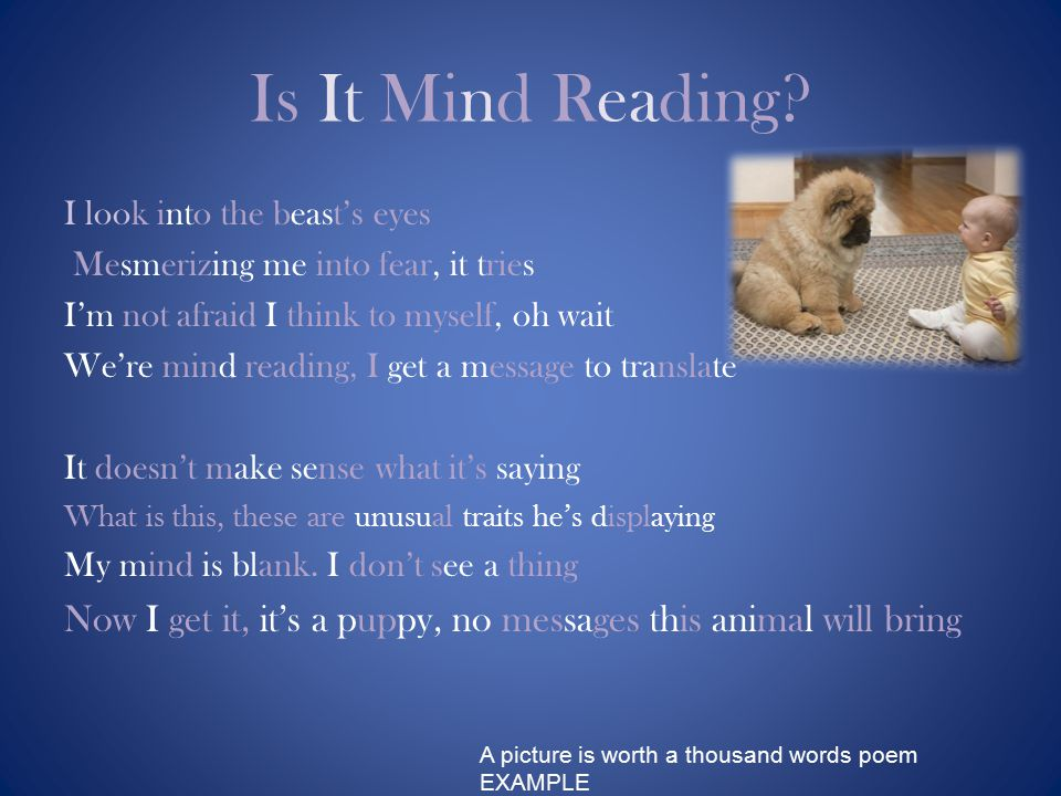 Is It Mind Reading.