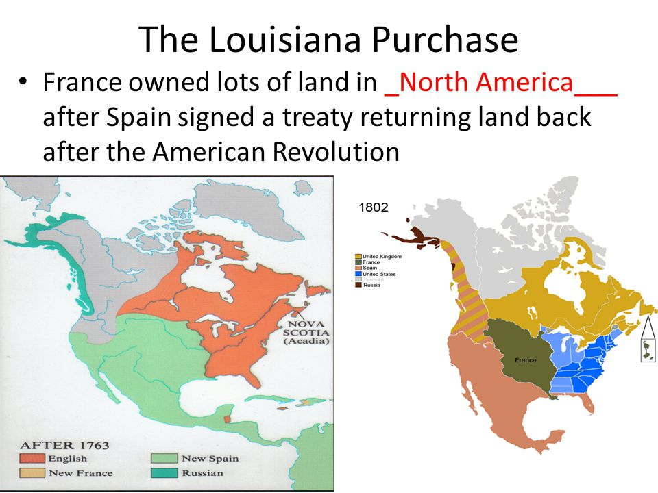 One of Jefferson's Greatest Accomplishments - The Louisiana Purchase - ___Napoleon___ was the Political and Military leader of France at the time