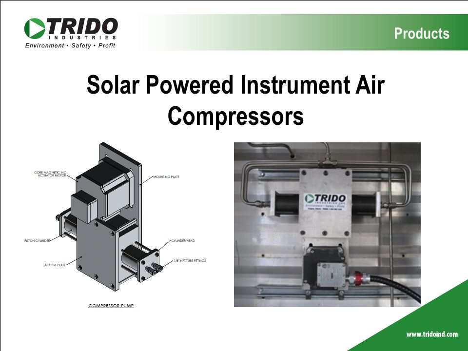 Products Solar Powered Instrument Air Compressors