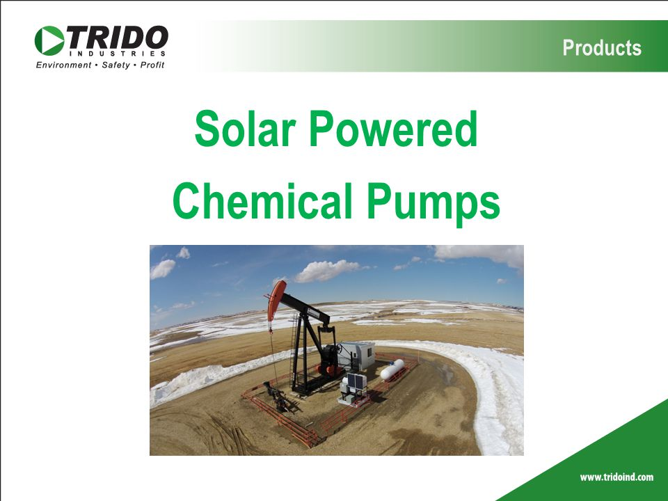 Products Solar Powered Chemical Pumps