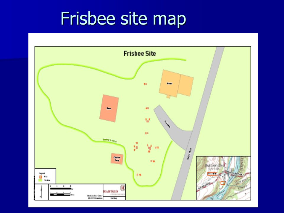 Frisbee site map