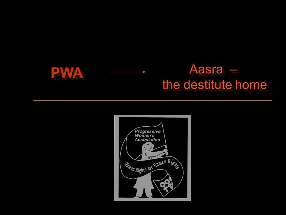 PWA Aasra – the destitute home Aasra – the destitute home
