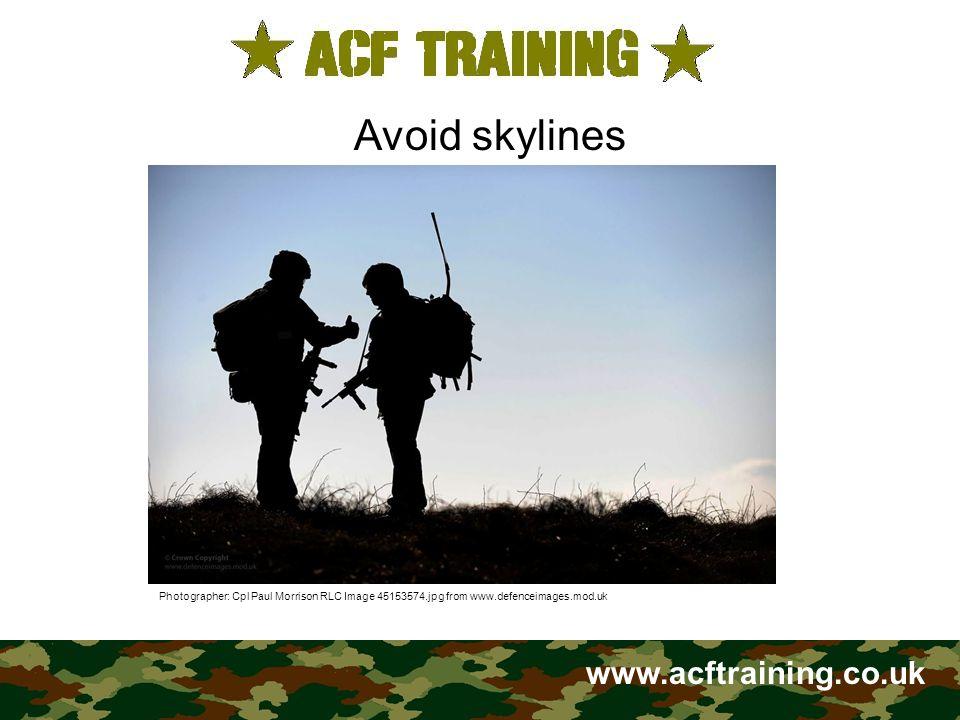 www.acftraining.co.uk Make sure your camouflage matches your background.