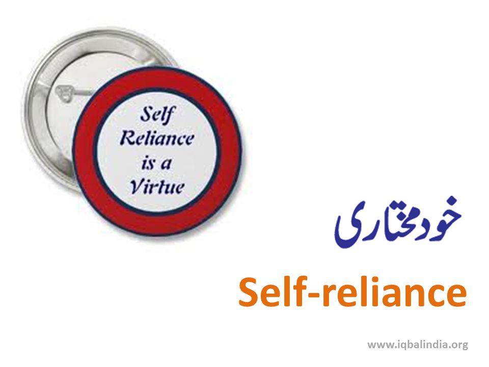 Self-reliance www.iqbalindia.org