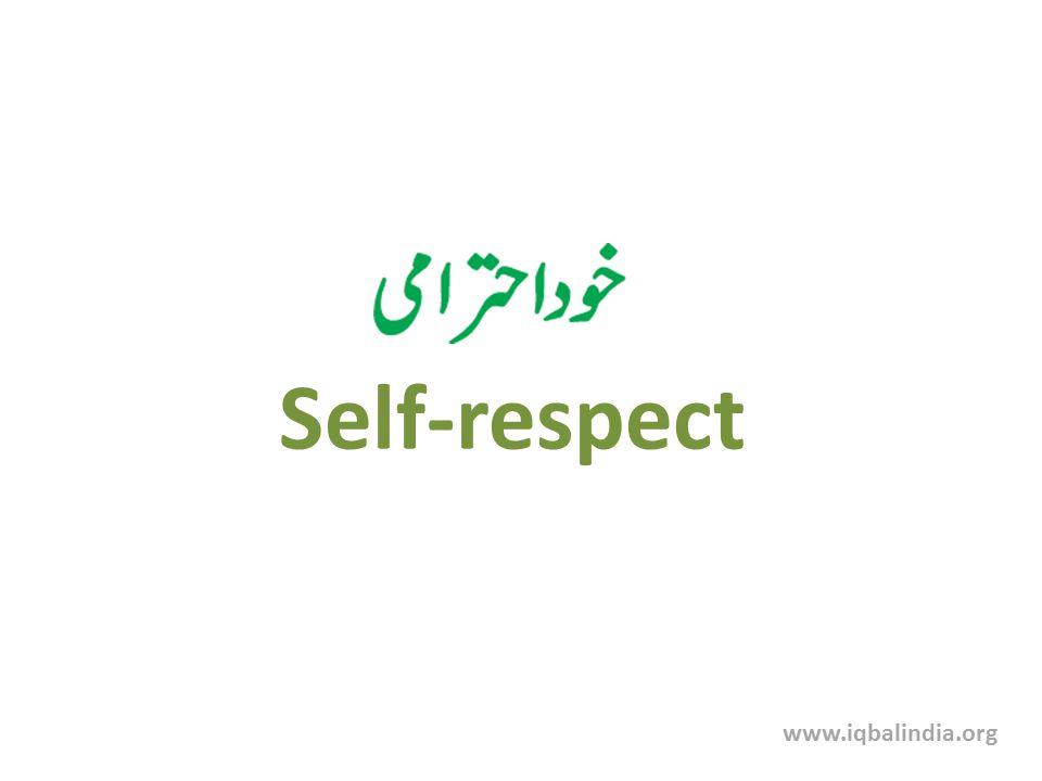 Self-respect www.iqbalindia.org