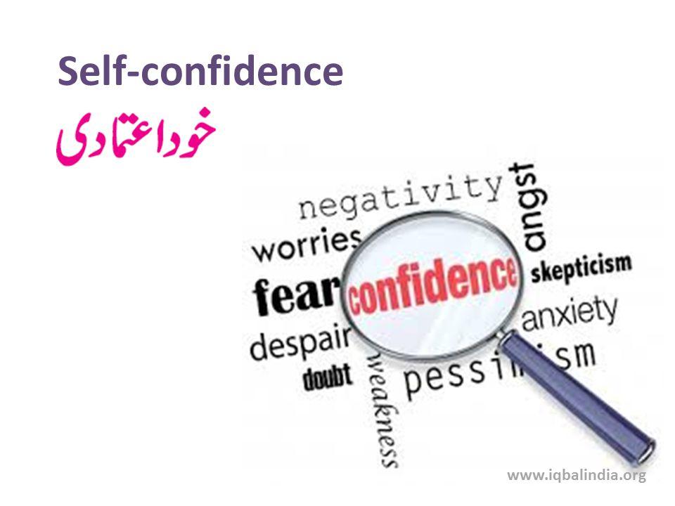 Self-confidence www.iqbalindia.org