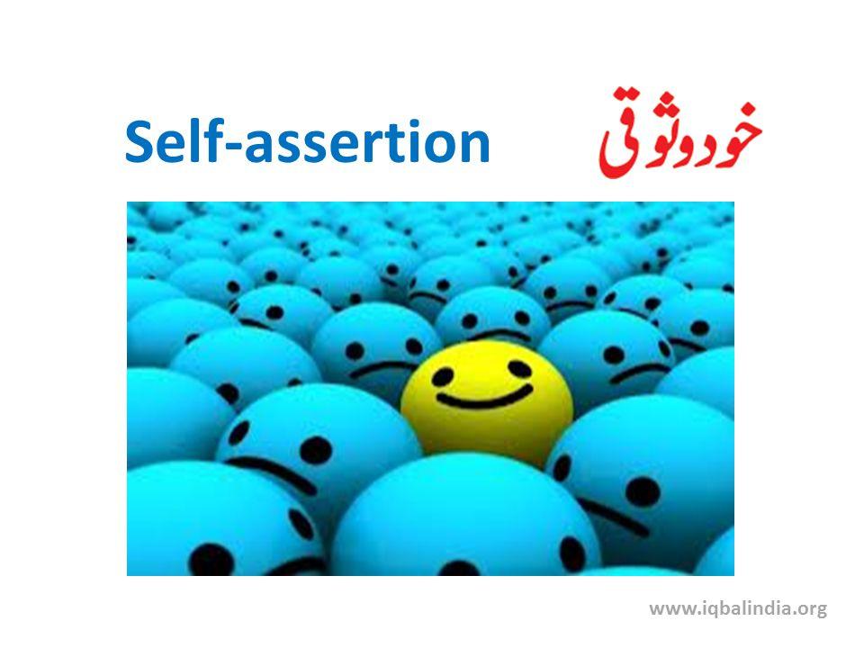 Self-assertion www.iqbalindia.org