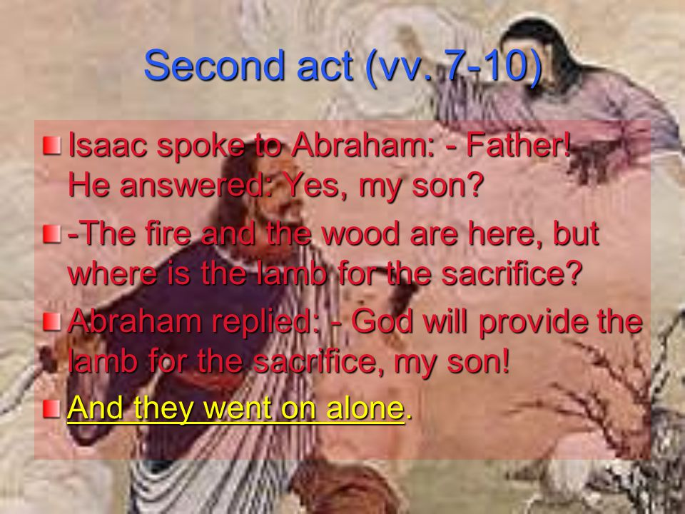 They came to the place to which God had directed them, Abraham built the altar And set the wood on it.