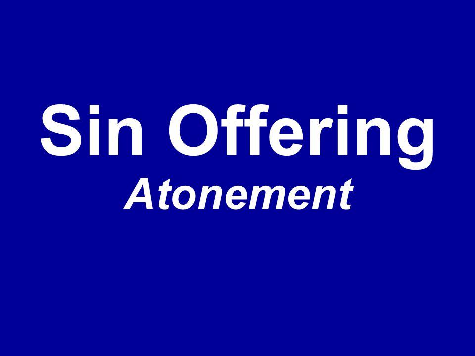 Sin Offering Atonement