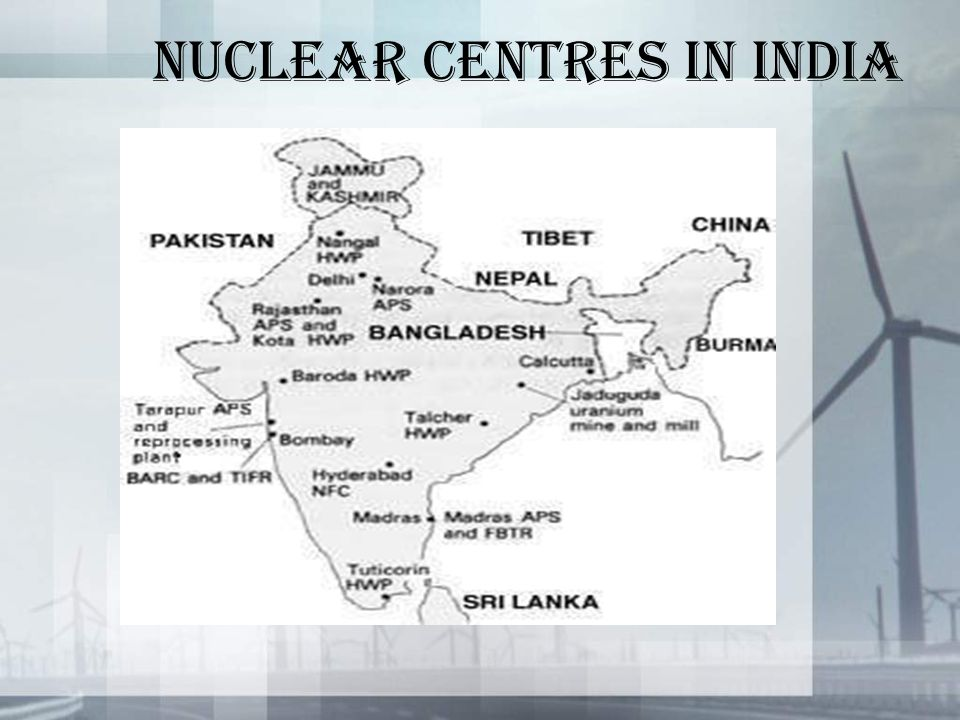 NUCLEAR CENTRES IN INDIA
