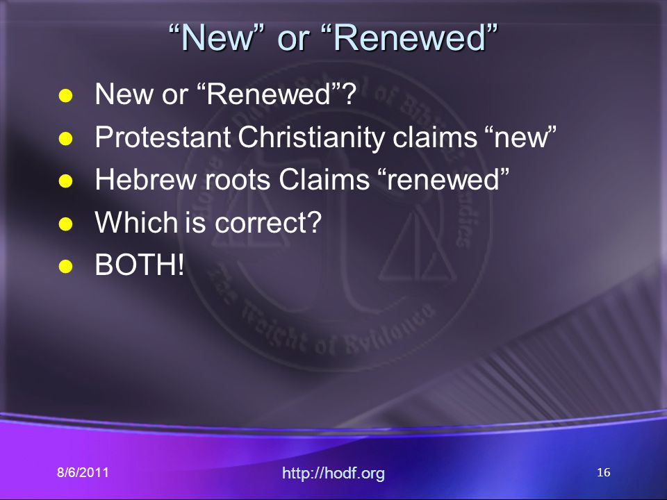 New or Renewed New or Renewed .