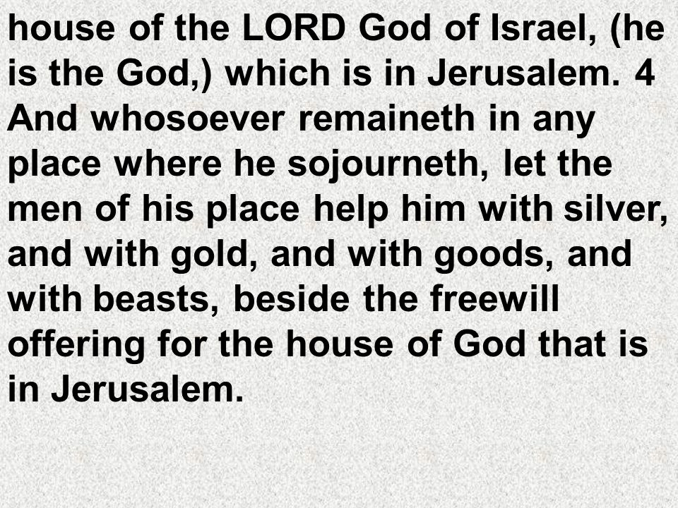 house of the LORD God of Israel, (he is the God,) which is in Jerusalem.