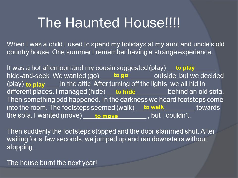 The Haunted House!!!.