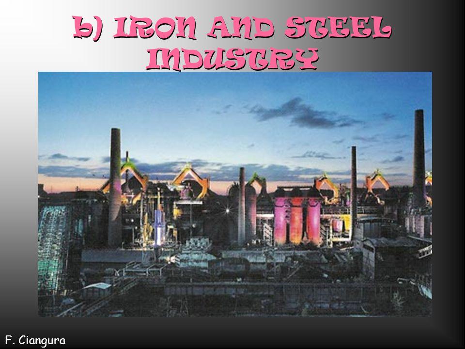 A) Raw materials include: COAL Limestone Iron ore F. Ciangura