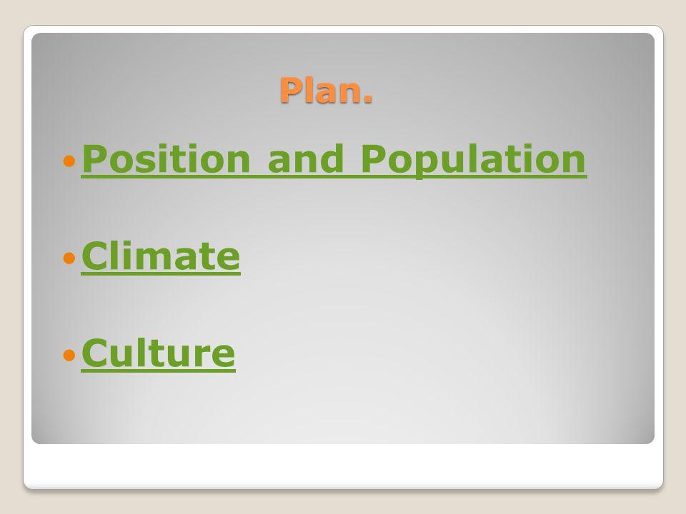 Position & population. Plan Climate