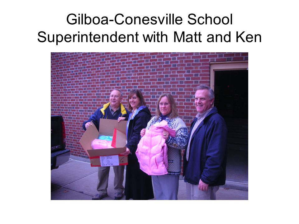 Gilboa-Conesville School Superintendent with Matt and Ken