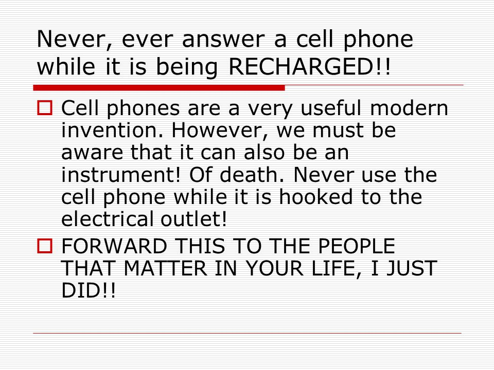  Cell phones are a very useful modern invention.